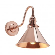 1 Light Wall Light Polished Copper