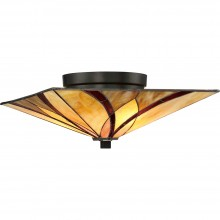 2 Light Flush Mount Valiant Bronze