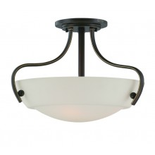Palladian Bronze 100w E27 Dimmable 455mm Diameter Semi-Flush