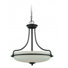 Palladian Bronze 100w E27 Dimmable 530mm Diameter Pendant