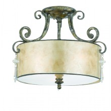 Mottled Silver Dimmable 405mm Diameter Semi-Flush