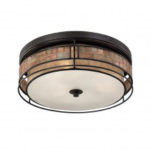 Renaissance Copper 40W E27 3 Light Flush