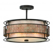 Renaissance Copper 60w E27 Dimmable 405mm Diameter Semi-Flush
