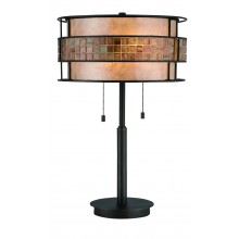 Renaissance Copper 60w E27 Dimmable Table Lamp With Pull Cord Switch
