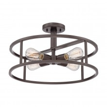 Western Bronze 60W E27 4 Light Semi-Flush