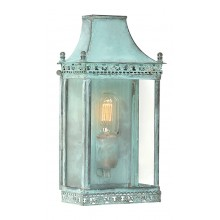 Verdigris With Clear Glass 100W E27 Porch Light