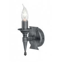 Black And Silver 60W E14 Wall Light