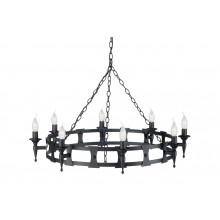 Black 60W E14 8 Light Pendant