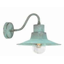 Verdigris With Clear Glass 100W E27 IP44 Garden Wall Light