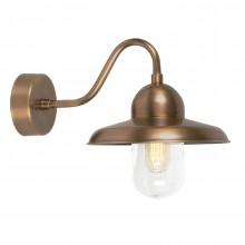 Brass 100W E27 IP44 Garden Wall light