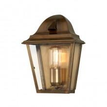 Solid Brass 100W E27 IP44 Half Wall Lantern