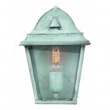 Verdigris 100W E27 IP44 Half Wall lantern