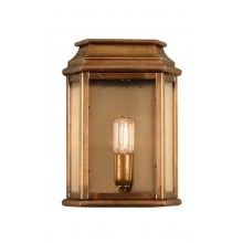 Solid Brass With Clear Glass 100W E27 IP44 Porch Light