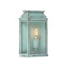 Verdigris With Clear Glass 100W E27 IP44 Porch Light