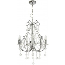Crystal Chandelier in Polished Chrome