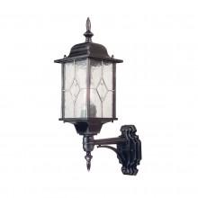 Black Silver 100W E27 IP43 Garden Wall Light