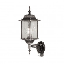 Black Silver 100W E27 IP43 Garden Wall Light with PIR Sensor