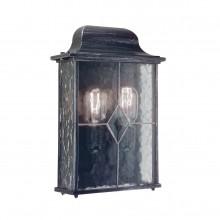 Black Silver 60W E27 IP43 Half Wall Lantern