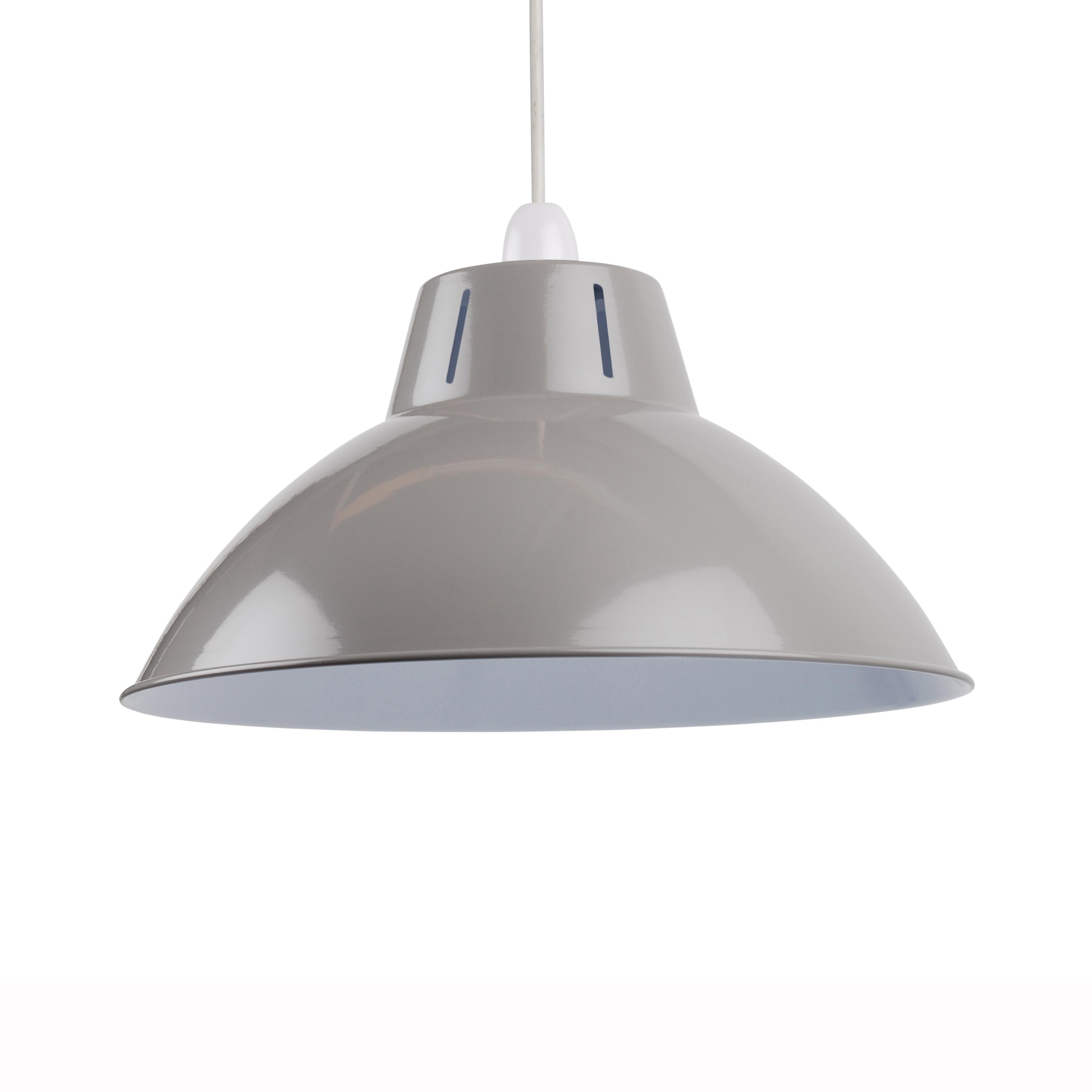 Grey 350mm 14 Industrial Metal Coolie Ceiling Light Shade