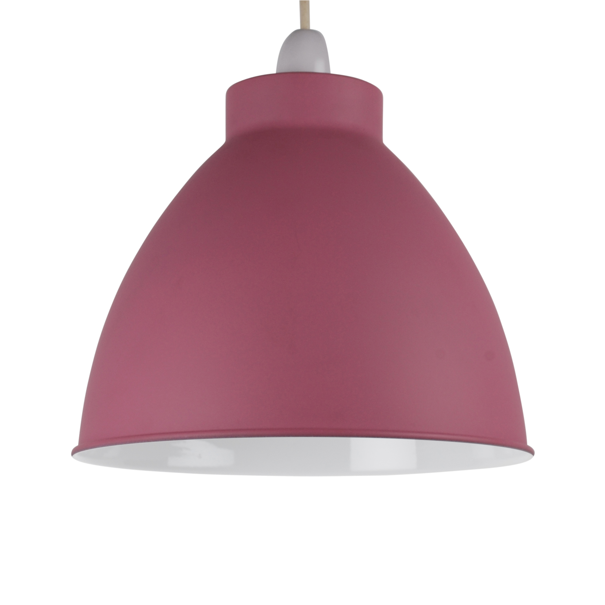 matt pink dome industrial metal coolie ceiling light shade