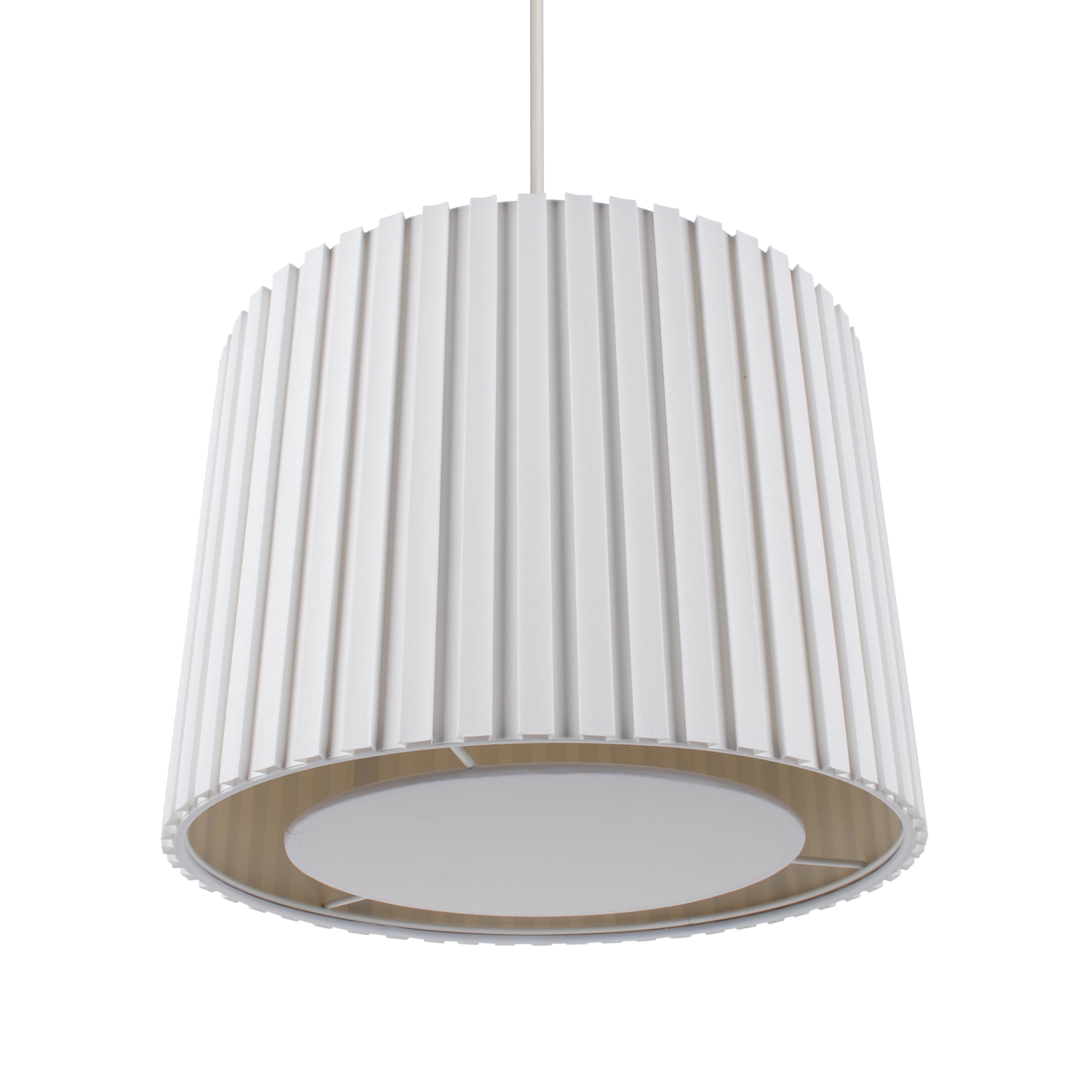Cream 350mm Pleated Non Electric Lamp Shade Ceiling Light