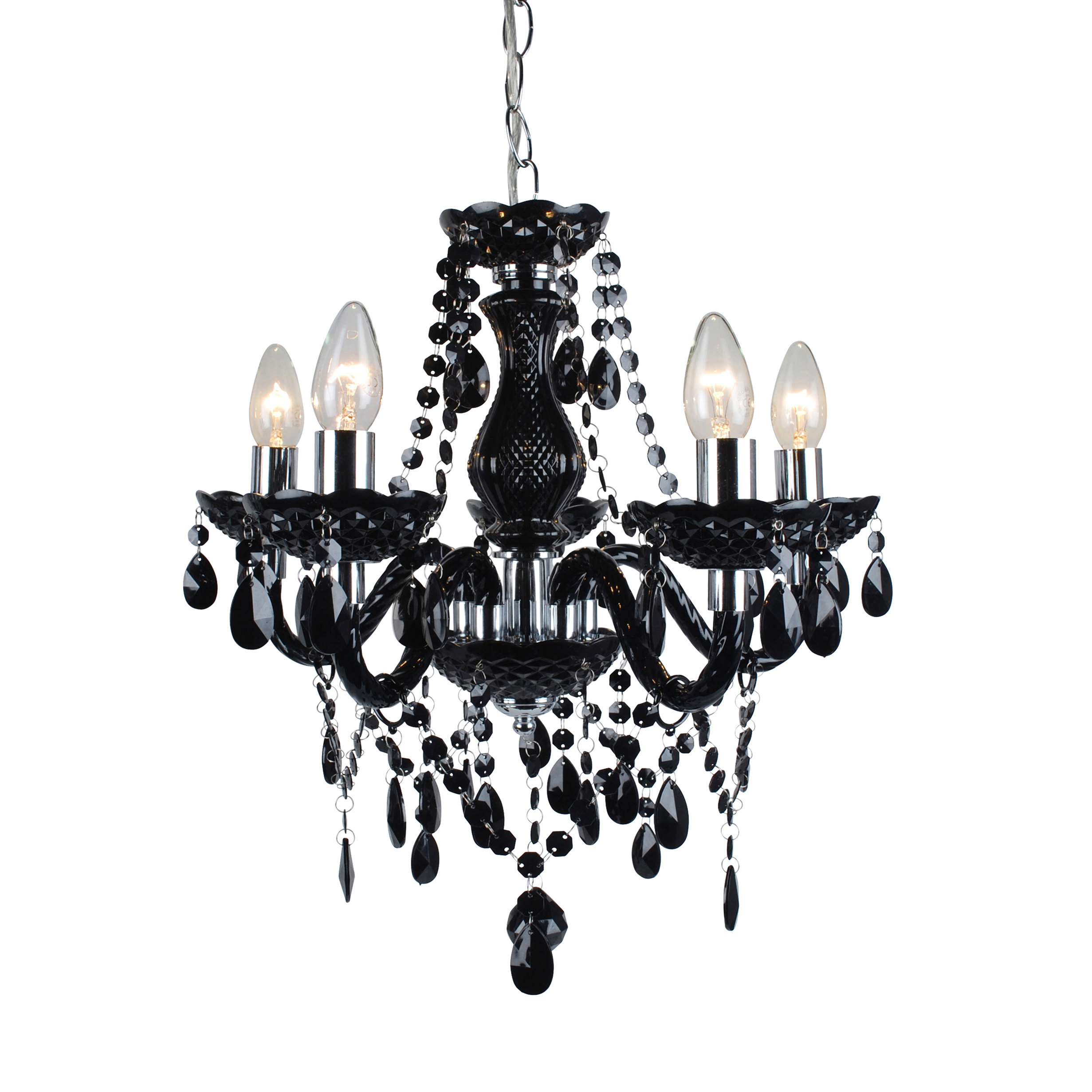 Marie Therese Traditional Black & Chrome Ceiling Fitting