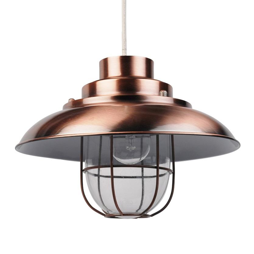 Modern Fishermans Style Ceiling Light Pendant Shades Light Lightshades Copper