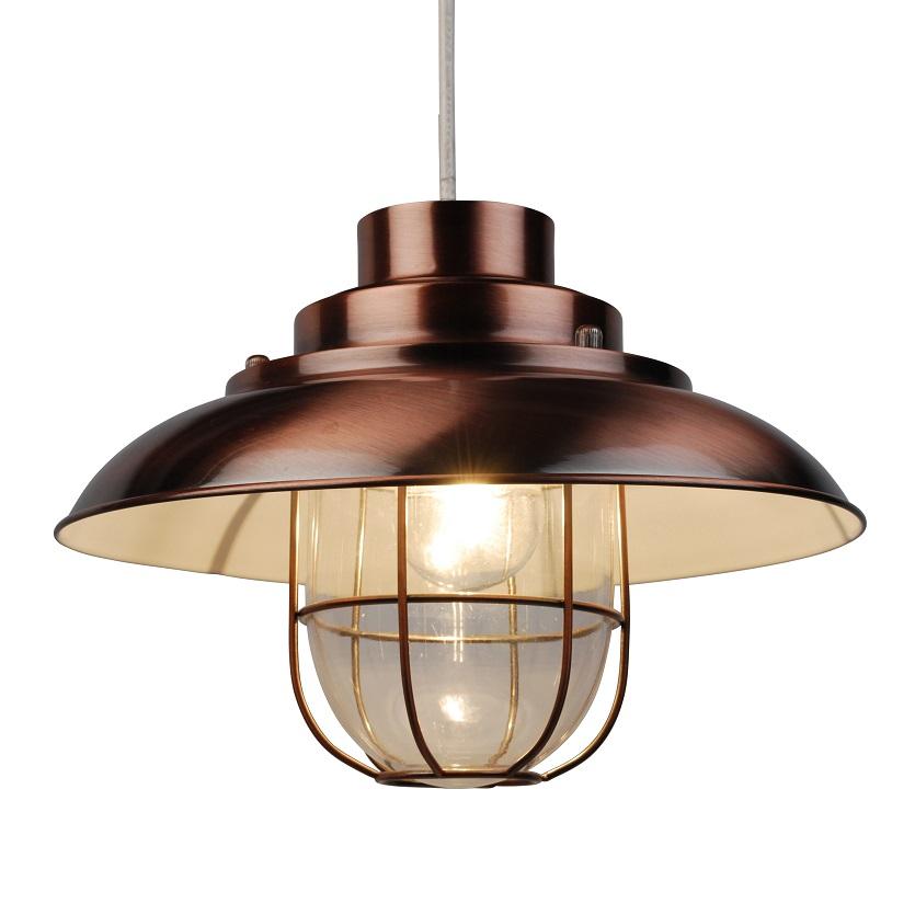 meet 8238e 52cc6 Details about Vintage Copper Finish Metal Fishermans Cage Ceiling Pendant  Light Lamp Shades