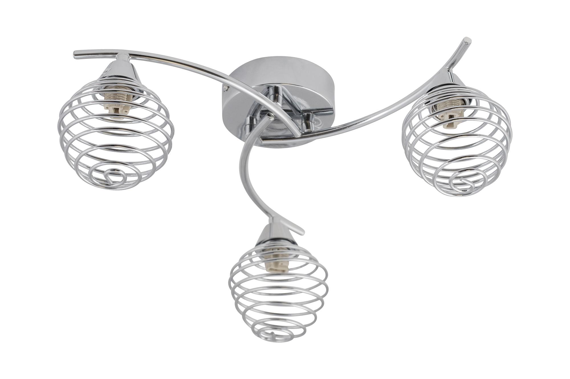 Modern Led Bathroom Ceiling Light Chrome Finish Ip44 Rated: Modern Polished Chrome 3 Way Twist Flush Ceiling Light