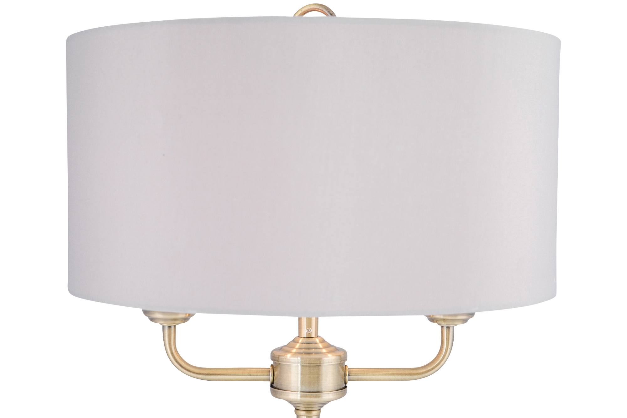 Modern Classic Antique Brass Twin Arm Table Lamp Bedside