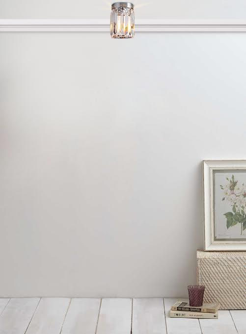 pair of modern chrome acrylic flush ceiling light