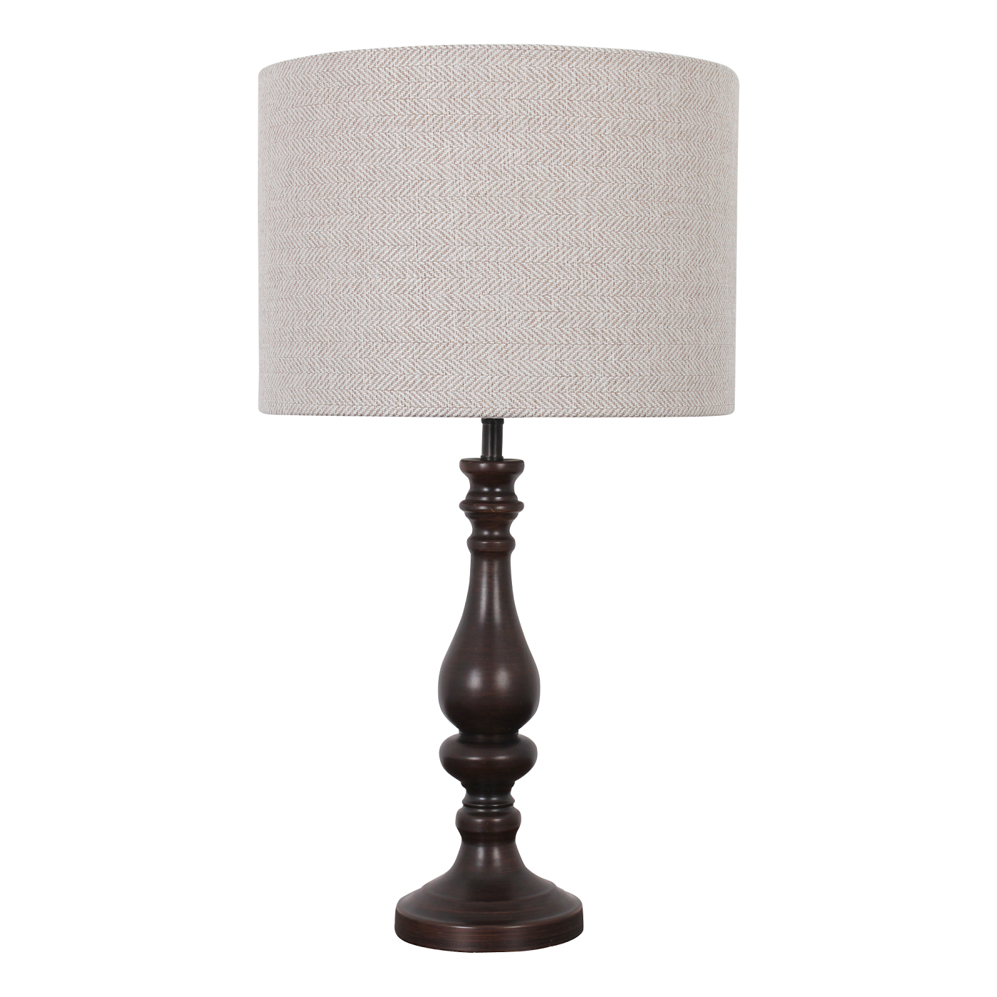 Pair of tall modern dark metal table lamps with for Modern bedside table lamps