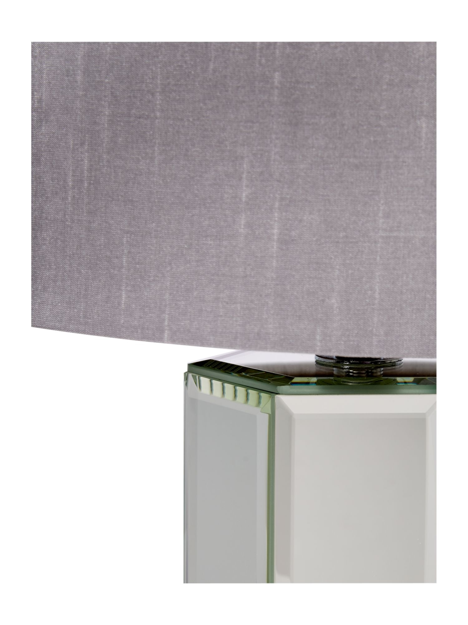 Light Grey Bedside Table: Modern Pair Of Silver Glass Mirrored Table Lamps Bedside