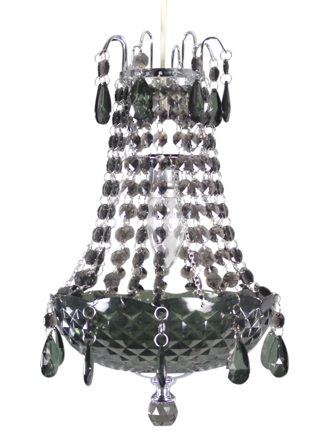 black acrylic crystal drop chandelier ceiling light