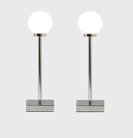 Pair of modern chrome touch dimmer bedside table lights lamps ebay - Bedside lamps with dimmer ...
