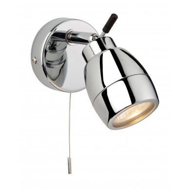 chrome finish IP44 bathroom wall light
