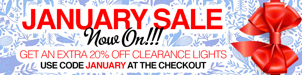 January Lighting Sale - Extra 20% Off Clearance