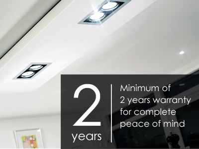Minimum 2 year warranty on all fittings